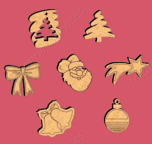 Figuras fibrofacil navidad letras formas pintar temas mdf - Figuras de navidad para pintar ...